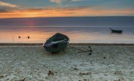 Fishing Boats At Sunrise,Latvia Royalty Free Stock Photos