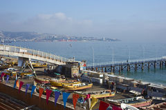 Free Fishing Boats At The Fish Market In Valparaiso, Chile Stock Photography - 74006202