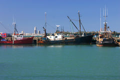Fishing boats in Auckland harbor Royalty Free Stock Photos