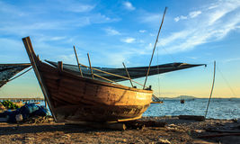 Fishing boats awaiting repair Stock Image