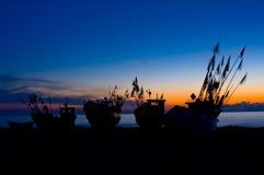 Fishing Boats at Baltic Sea Coast. Royalty Free Stock Photo