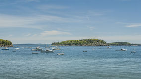 Fishing Boats at Bar Harbor Maine Royalty Free Stock Photo