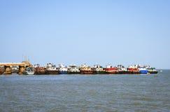 Fishing boats based at port Royalty Free Stock Photos