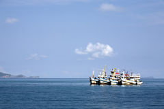 Fishing Boats at Bay Royalty Free Stock Photo