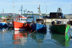 Fishing boats in the bay at cobh Royalty Free Stock Images
