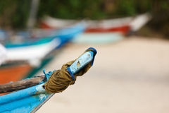 Fishing boats on beach. Mirissa, Sri Lanka Stock Photo
