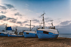 Fishing boats at the beach Stock Image