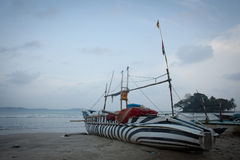 Fishing boats on the beach Royalty Free Stock Photo