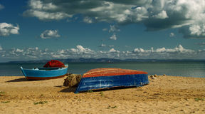 Fishing Boats on the Beach Stock Image