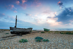Fishing Boats on the Beach in Kent Stock Images