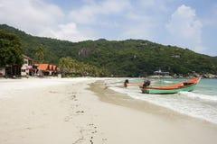 Fishing boats on beach, Koh Pha Ngan, Thailand Royalty Free Stock Photography