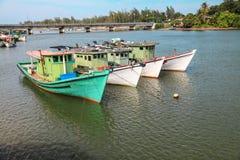 Fishing boats. On the beach at Kuala Terengganu Stock Photography