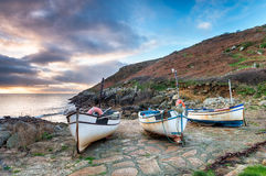 Fishing Boats on a Beach Stock Photo