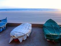 Fishing boats on the beach resort of La Caleta in Cadiz Royalty Free Stock Images