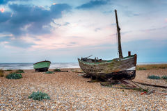 Fishing Boats on the Beach Royalty Free Stock Photography