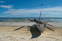 Fishing boats on the beach. Siquijor Island, Philippines Stock Photo