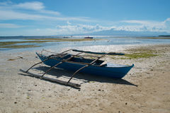 Fishing boats on the beach. Siquijor Island, Philippines Royalty Free Stock Photos