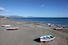 Fishing boats on the beach. Spain Royalty Free Stock Image