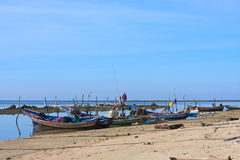 Fishing boats by the beach,Thailand Stock Photo