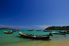 Fishing boats at the beach Royalty Free Stock Photos