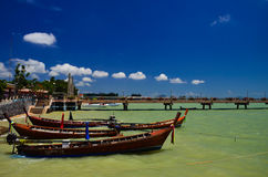 Fishing boats at the beach Stock Photography