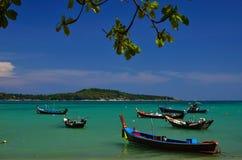 Fishing boats at the beach Royalty Free Stock Photo
