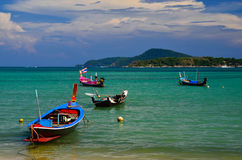 Fishing boats at the beach Royalty Free Stock Images