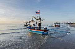 Fishing boats on the beach. Thailand Stock Photo