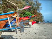 Fishing boats at the beach in Thailand Royalty Free Stock Image