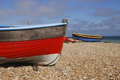 Fishing boats on beach. Worthing. UK Royalty Free Stock Photography