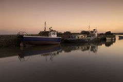Fishing Boats at Beadnell  Royalty Free Stock Image