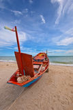 Fishing Boats in blue sky Stock Photography
