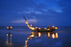 Fishing Boats. Fishing Boat in Beach in early morning royalty free stock image