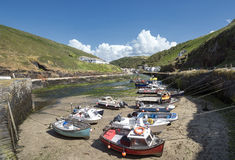 Fishing Boats at Boscastle Royalty Free Stock Images