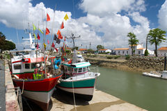 Fishing boats Boyardville France Royalty Free Stock Photography