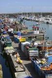 Fishing boats at Brighton Marina. England Royalty Free Stock Image