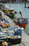 Fishing boats at Brighton Marina. England Royalty Free Stock Images