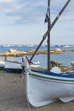 Fishing boats of Calella de Palafrugell Royalty Free Stock Image