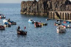 Fishing boats in Camara de Lobos, Madeira Islands Stock Photography