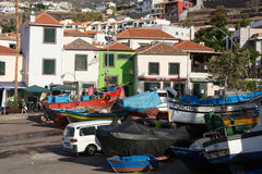 Fishing boats in Camara de Lobos, Madeira Islands, Stock Photos