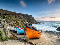 Fishing Boats at Cape Cornwall Stock Image