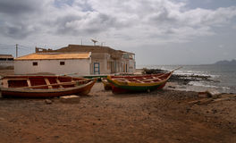 Fishing boats in Cape Verde Stock Images