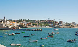 Fishing boats , Cascais, Portugal. Stock Photography