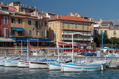 Fishing boats in Cassis Stock Images
