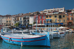 Fishing boats in Cassis harbour Royalty Free Stock Photo