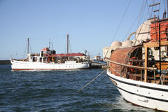 Fishing boats in Chania, Greece Royalty Free Stock Photography