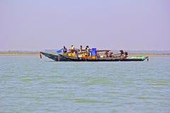 Fishing boats on Chilika lake Stock Images
