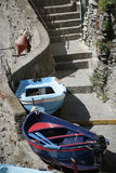 The Fishing Boats in Cinque Terre Stock Photography