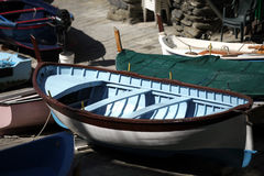 The Fishing Boats in Cinque Terre Stock Photos