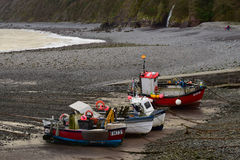 Fishing Boats in Clovelly Harbour, Devon Royalty Free Stock Image